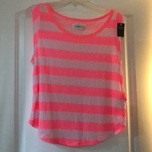 Colorful stripes top.